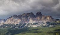 Sunlit mountain, Alberta