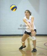 Royal Military College volleyball star in action in home game.