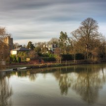 Agter Spencer -View from Cookham Bridge,