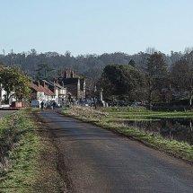Raod across Cookham Moor 2014