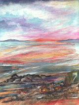 Beach Sunset mixed media £250 29x22