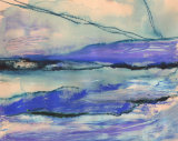 Purple Moor  Mixed Media Framed £150 27x21