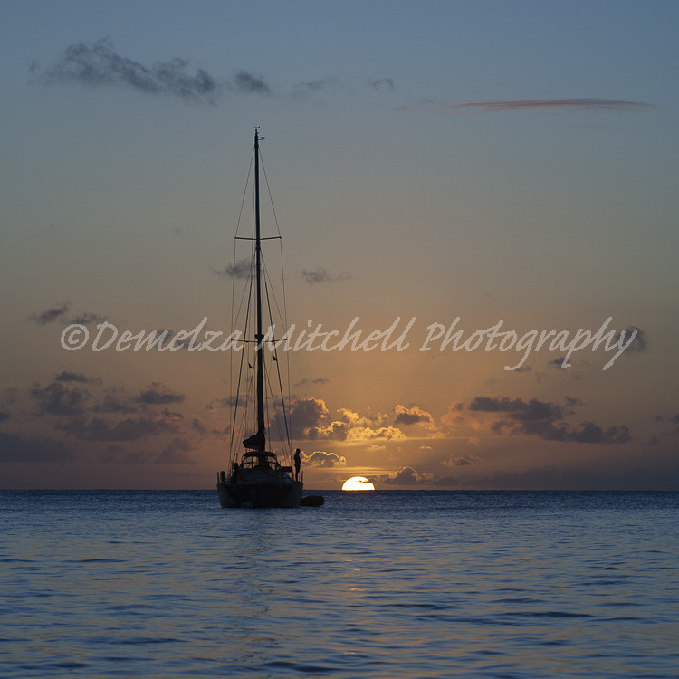 Waiting for the green flash, Mustique
