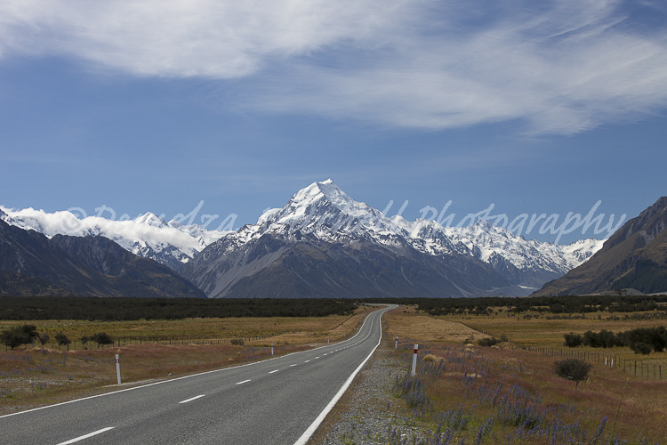 Approaching Aoraki/ Mt Cook