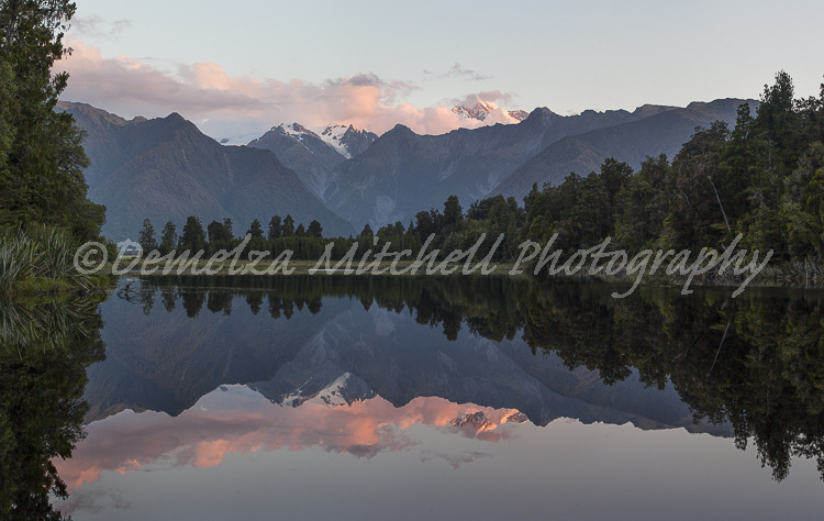 Evening light, Lake Matheson