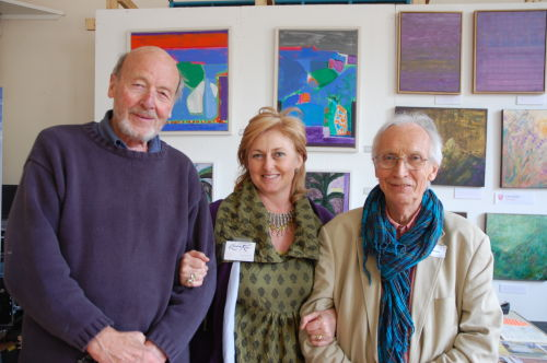 with artists Derek Nice and David Hampton at the Widcombe Art Trail, May 13