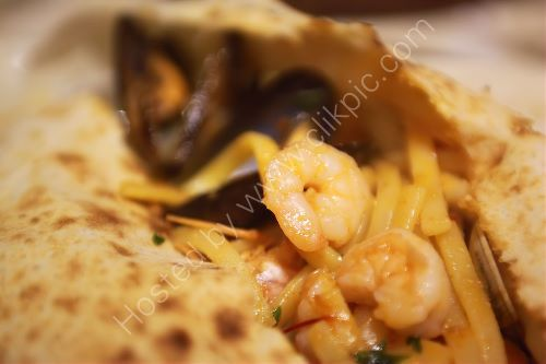 A Seafood Pasta Calzone 2