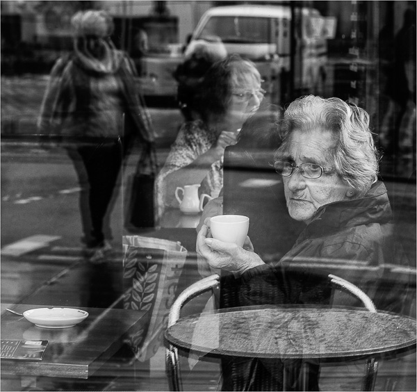 Street Cafe Reflections