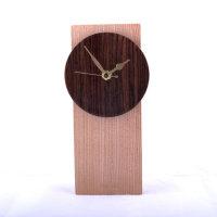 A wooden clock.