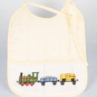 Cross stitch babies bib.