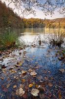 Framing autumn on lake Galovac, National Park Plitvice Lakes, Croatia