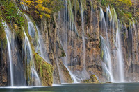 Waterfall on lake Galovac, National Park Plitvice Lakes, Croatia