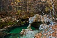 The elephant rock on Mostnica river, National Park Triglav, Slovenia