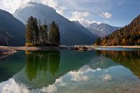 Lake Predil in Friuli Venezia-Giulia, Italy