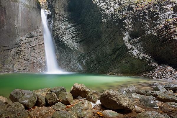 Waterfall Kozjak, Slovenia