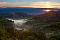 Samobor hills in autumn dawn, Croatia
