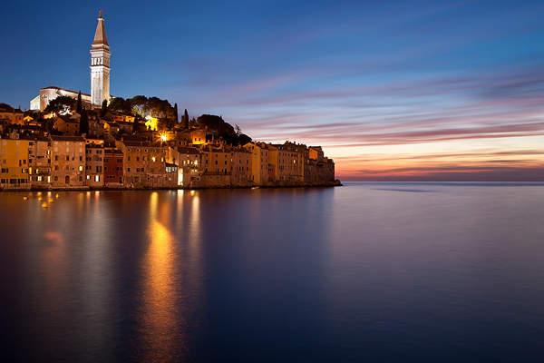 North face of town Rovinj, Istria, Croatia