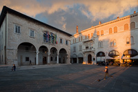 Forum square in town Pula, Istria, Croatia