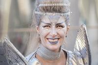 Space fairy on the carnival in town Rijeka, Croatia