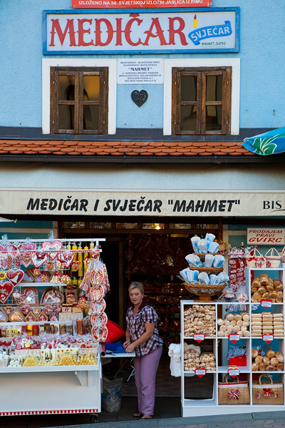 Woman selling souvenirs