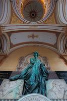 "Statue on Zagreb city cemetery ""Mirogoj"", Croatia"
