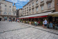 Famous Pjaca square in the center of city Split, Dalmatia, Croatia