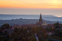 Old town Groznjan in sunset, Istria, Croatia