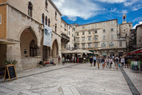 Narodni Trg in the center of city Split, Dalmatia, Croatia