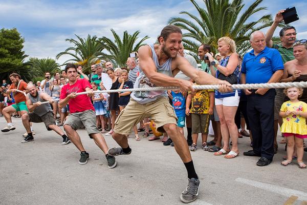 Rope pulling contest in Kukljica, island Ugljan, Croatia