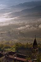 Motovun valley in fog, Istria, Croatia