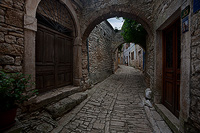 Old street in town Bale, Istria, Croatia