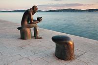 Monument of Spiridon Brusina in town Zadar