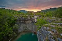 Waterfall Sopot by twillight, Istria, Croatia