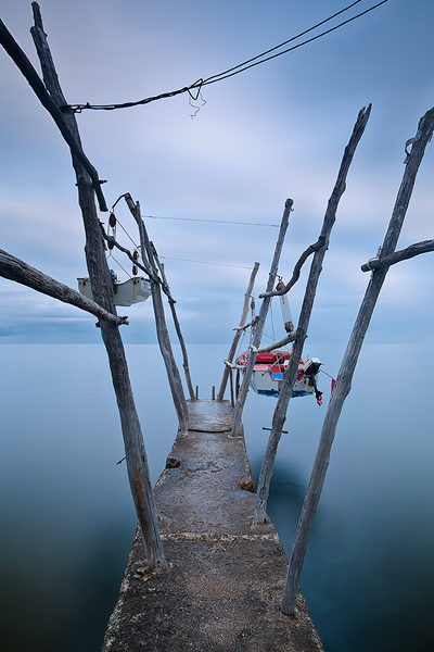 Hanging boats in Basania