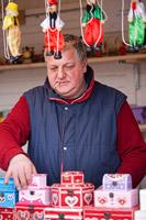 Toy seller on Samobor town carneval, Croatia