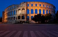 Roman Arena in Pula, Istria, Croatia