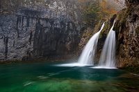 River Korana's first waterfall in autumn, National Park Plitvice Lakes, Croatia