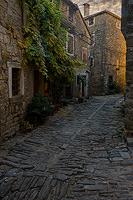 Old street in town Groznjan, Istria, Croatia