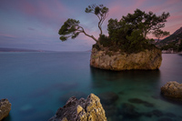 Famous rock in place Brela, Croatia