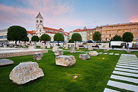 Roman Forum in Zadar, Dalmatia, Croatia