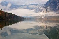 Lake Bohinj symmetry, National Park Triglav, Gorenjska, Slovenia