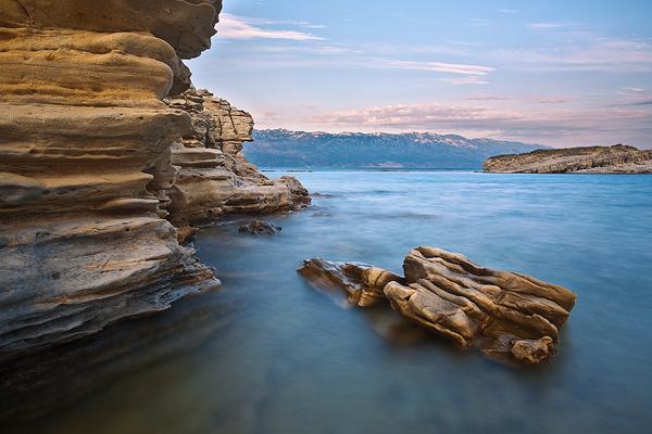 Sandstones on island Rab