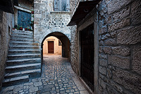 Passage in Trogir, Dalmatia, Croatia