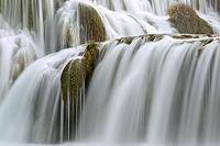 An detail of Skradinski Buk waterfall, National Park Krka river, Dalmatia, Croatia