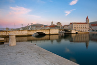 The bridge in town Trogir, Dalmatia, Croatia