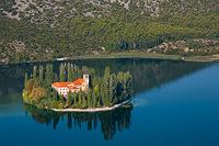 Franciscan monastery Visovac, National Park Krka river, Dalmatia, Croatia