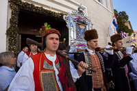 Miraculous Lady of Sinj procession, Dalmatia, Croatia