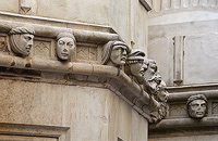 Faces on St. Jacob's Cathedral