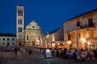 St.Stephen's church and square in town Hvar, island Hvar, Dalmatia, Croatia