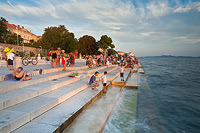 Sea Organ installation in Zadar, Dalmatia, Croatia